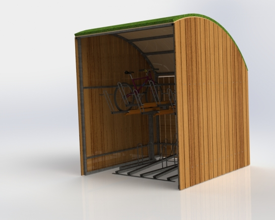 Green roof minishelter 1