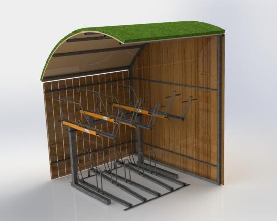Green roof minishelter2